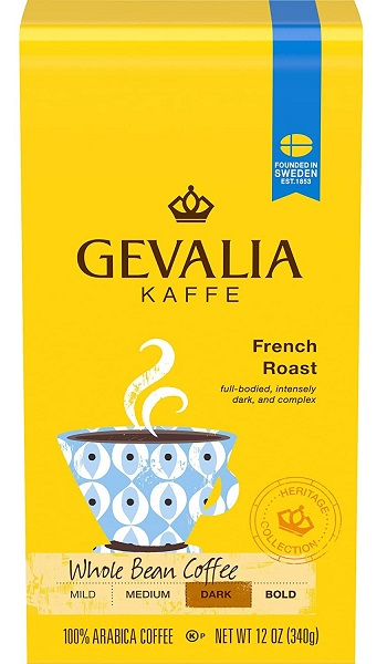Gevalia French Roast Whole Bean Coffee 12 oz Bags