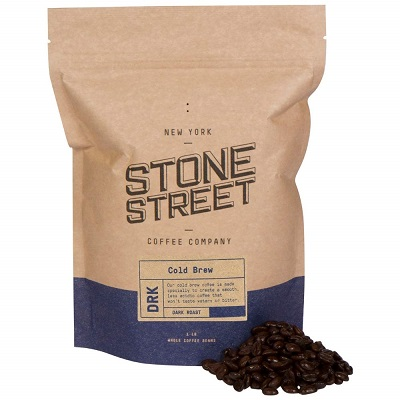 Stone Street Coffee Cold Brew Reserve Colombian Supremo Whole Bean Coffee, 1 LB Bag, Dark Roast