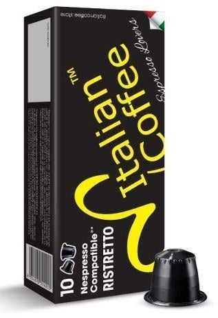 Delicitaly 100 Italian Coffee pods compatible with Nespresso machines