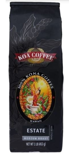 Estate Medium Roast Whole Bean 100% Kona Coffee
