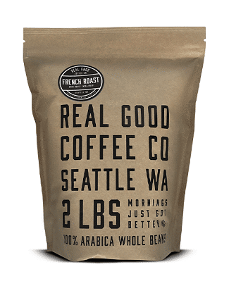 Real Good Coffee Co Whole Bean French Roast Extra Dark Coffee Beans, 2 Pound Bag